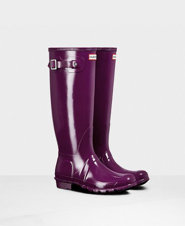 Hunters Rain Boots - Purple