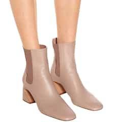 Jil Sander - Leather ankle boots | Mytheresa