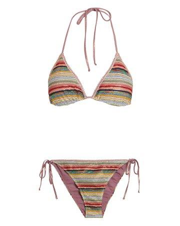 Crochet Rainbow Bikini
