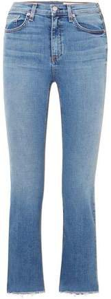 Hana Cropped High-rise Bootcut Jeans