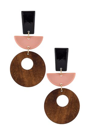 SHASHI Moda Earring in Wood | REVOLVE