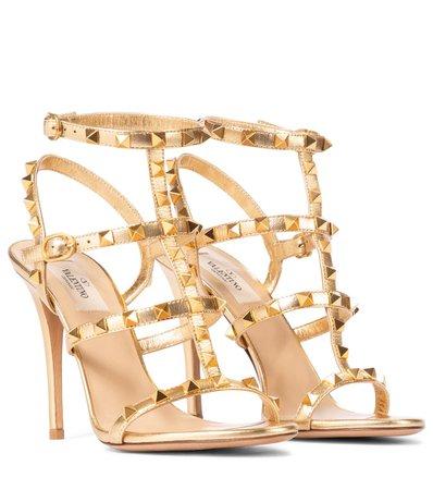 Valentino / Garavani - Valentino Garavani Rockstud leather sandals | Mytheresa