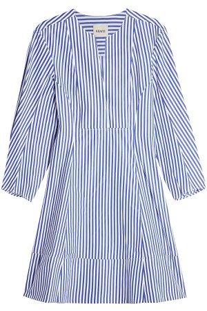 Vanessa Striped Cotton Dress Gr. US 4
