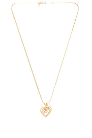 Nora Heart & Crystal Charm Necklace