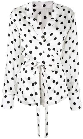 Bambah envelope polka dot blouse