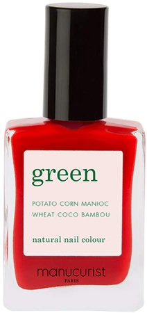 Manucurist Green Nail Lacquer - Poppy Red