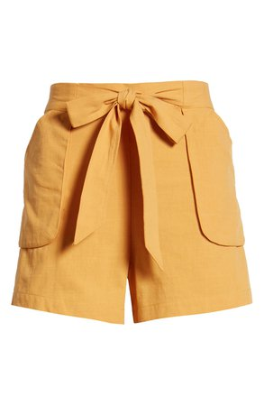 Band of Gypsies Phoenix Tie Waist Shorts | Nordstrom
