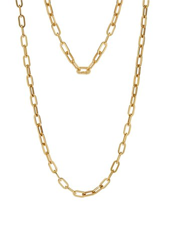 Annoushka 18kt yellow gold cable chain necklace - FARFETCH