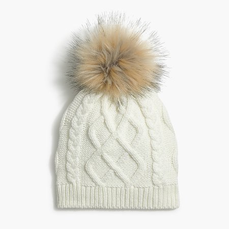 J.Crew Factory: Faux-fur Pom-pom Hat For Women