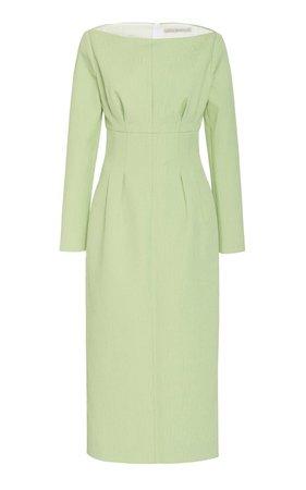 Asher Slit Cady Dress by Emilia Wickstead   Moda Operandi