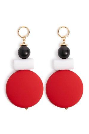 Colorblock Geo Drop Earrings | Forever 21
