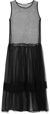 Molly Goddard - Eve Ruffled Tulle Dress - Black