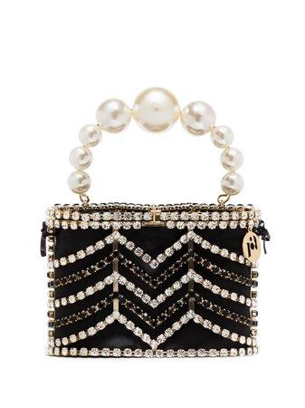 Rosantica Holli Crystal Chevron Mini Bag - Farfetch