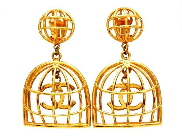 beyonce earrings bird cage - Google Search