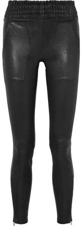 Leather Skinny Pants - Black