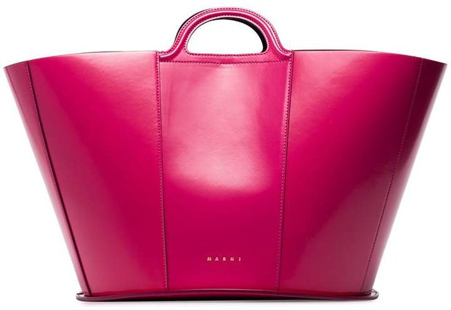 patent-leather tote bag