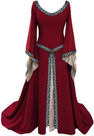 Amazon.com: baycon Womens Renaissance Medieval Costume Dress Gothic Victorian Fancy Dress: Clothing