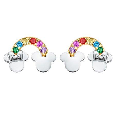 Mickey and Minnie Mouse Rainbow Earrings by CRISLU | shopDisney