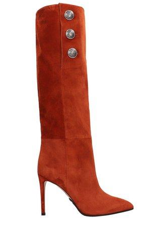Balmain Jane Rust Suede Boots