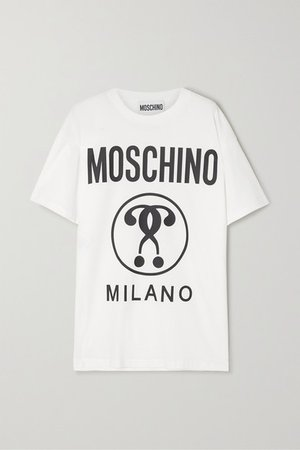Moschino | Oversized printed cotton-jersey T-shirt | NET-A-PORTER.COM