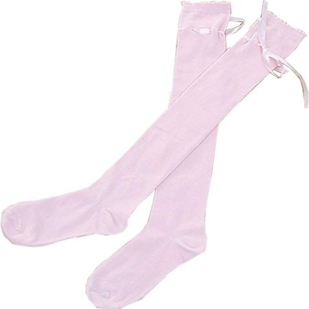 Amazon.com: Women's Thigh High Socks Lolita Gothic Over Knee Stocking Lace Up Thigh Stockings PTK12 (Pink): Clothing
