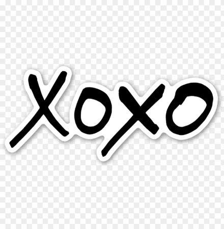xoxo-sticker-xoxo-115630490588ozshvrjds.png (840×859)