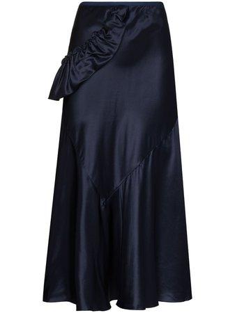 Shop blue Simone Rocha bias-cut midi skirt with Express Delivery - Farfetch