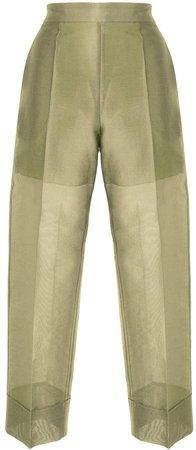 Metallic Twill Trousers