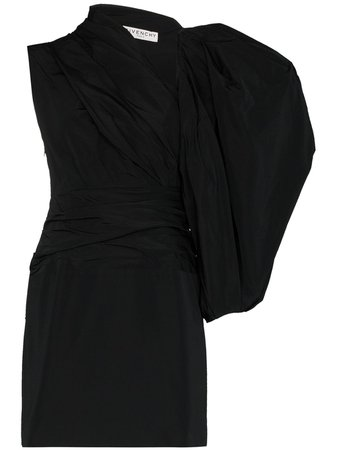 Givenchy, asymmetric taffeta mini dress