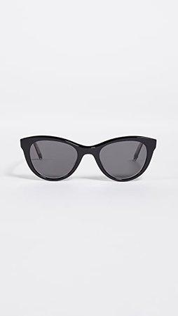GARRETT LEIGHT x Clare V. 47 Cat Eye Sunglasses | SHOPBOP