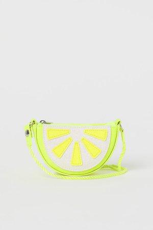 Glittery Shoulder Bag - Yellow