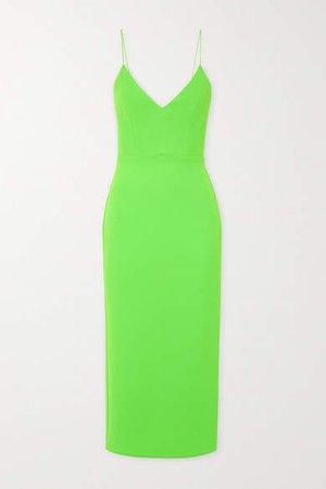 Drake Stretch-crepe Midi Dress - Lime green