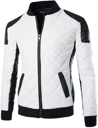 White&Black Biker Jacket