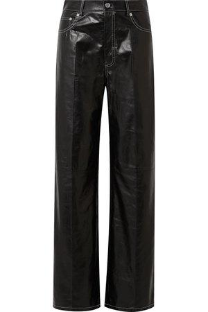 Helmut Lang | Leather wide-leg pants | NET-A-PORTER.COM
