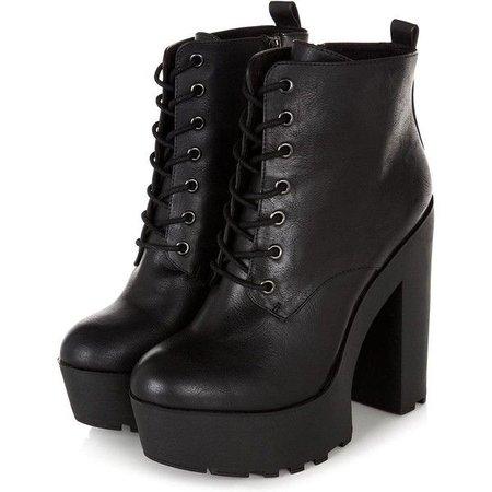 Black Heel Chunky Boots