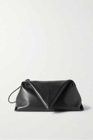 Black BV Trine leather clutch   Bottega Veneta   NET-A-PORTER