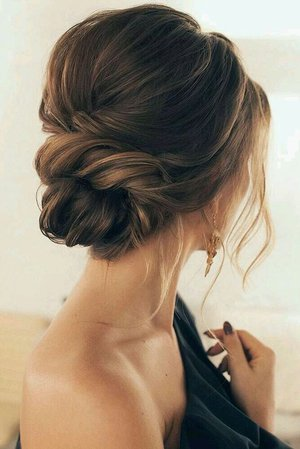 Side swept messy bun