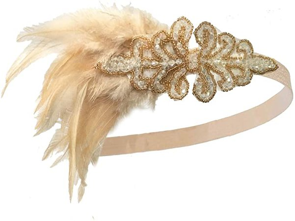 Amazon.com: 1920s Great Gatsby Accessories Set for Women,Costume Flapper Headpiece Headband,M1: Clothing