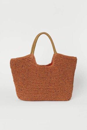 Paper Straw Shopper - Orange