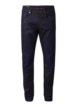 G-Star RAW 3301 High rise slim fit jeans met stretch • Indigo • de Bijenkorf
