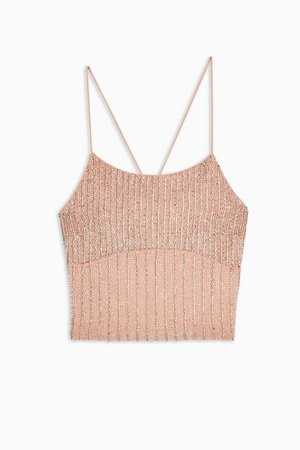 Pink Embellished Cami | Topshop