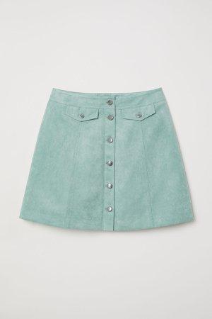 Short Skirt | Mint green/faux suede | WOMEN | H&M US