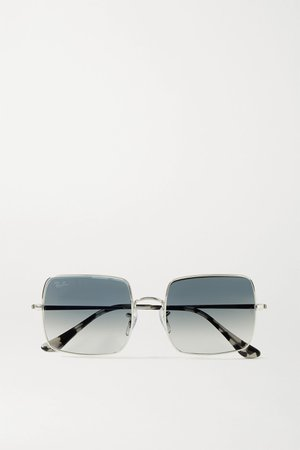 Silver 1971 square-frame silver-tone and acetate sunglasses | Ray-Ban | NET-A-PORTER
