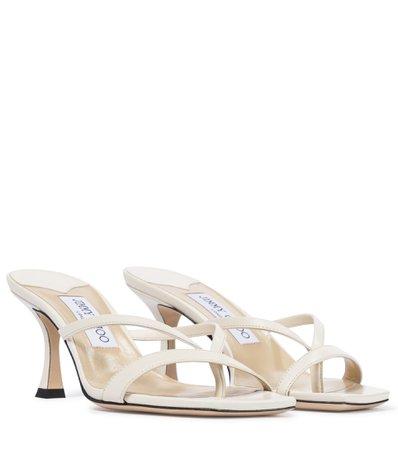 Jimmy Choo, Maelie 70 leather thong sandals