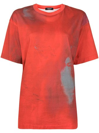 UNDERCOVER distressed-print Cotton T-shirt - Farfetch