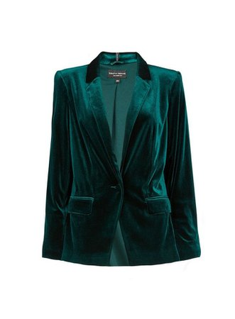Green Velvet Tailored Jacket | Dorothy Perkins green
