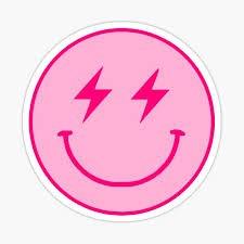 preppy stickers smiley
