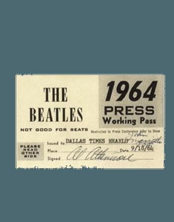 the beatles ticket