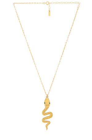Natalie B Jewelry Le Serpent Necklace in Gold | REVOLVE