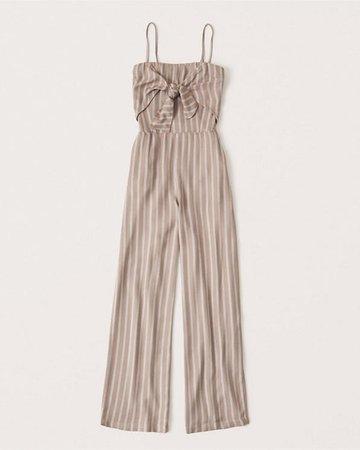 Women's Tie-Front Jumpsuit | Women's Dresses & Jumpsuits | Abercrombie.com